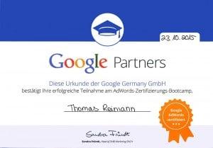 AdWords-Zertifikat