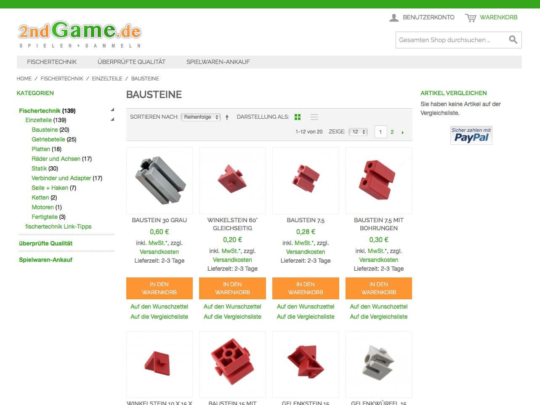 Screen 2ndGame.de