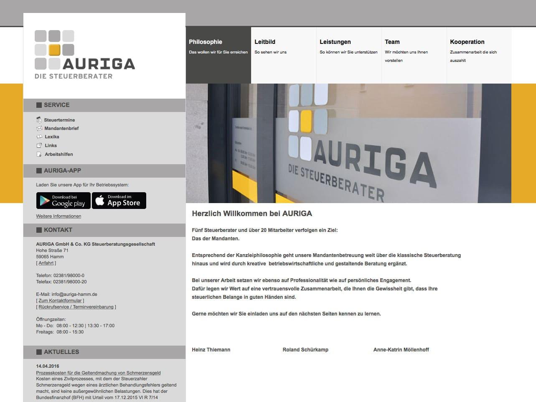Screen auriga-hamm.de