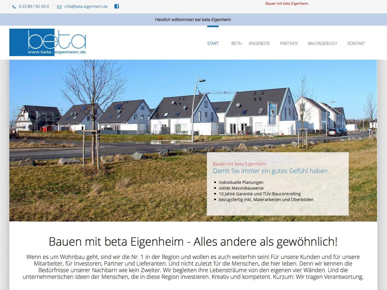 Screen beta-eigenheim.de