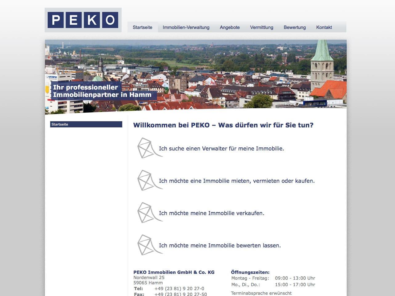 Screen peko-hamm.de