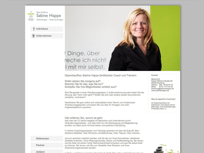 Screen sabinehappe.de
