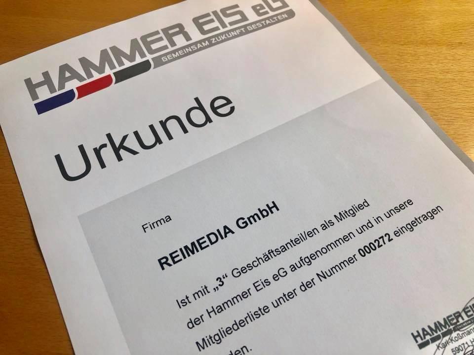 REIMEDIA unterstützt die Hammer Eis eG